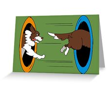 The Tail Chase Greeting Card