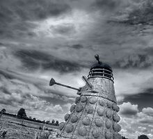 Straw Dalek b&w by Mikhail31