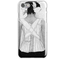 Mysterious Vintage Woman in Corset iPhone Case/Skin