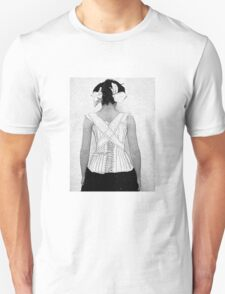 Mysterious Vintage Woman in Corset Unisex T-Shirt