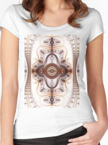 Time machine - Abstract Fractal Artwork Women's Fitted Scoop T-Shirt