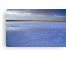 Purple Sunset Salt lake, Atacama Desert, Chile Canvas Print