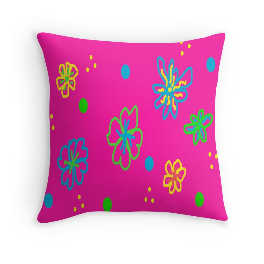 Throw Pillows With Large Flowers :