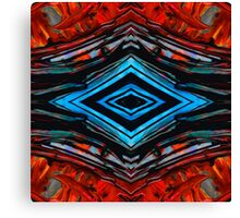 Blue Diamond Art by Sharon Cummings Canvas Print