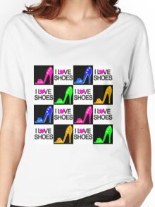 COLORFUL I LOVE SHOES DESIGN Women's Relaxed Fit T-Shirt
