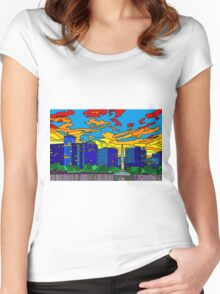 Orlando Pride Cityscape (No Title) Women's Fitted Scoop T-Shirt