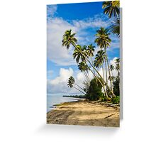 Palm Trees in Rarotonga, Cook Islands, South Pacific Greeting Card