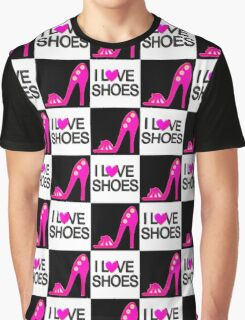 PASSIONATE PINK I LOVE SHOES DESIGN Graphic T-Shirt