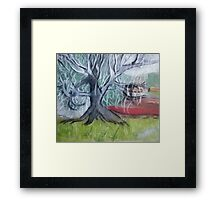 Ghost Tree Framed Print