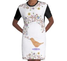 Birdsong Graphic T-Shirt Dress