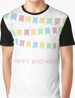 Vintage Birthday Card Graphic T-Shirt