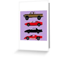 The Car's The Star: Glen A Larson Greeting Card