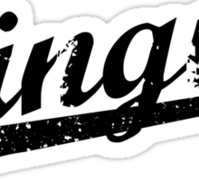 L.A. Dingus - The Blue Crew (Black) Sticker