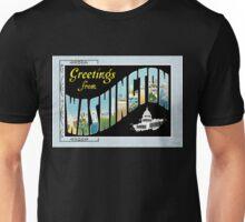 Washington DC Vintage Souvenir Post Card Unisex T-Shirt
