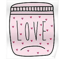 Love in a jar. Poster
