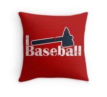 I Love Baseball Throw Pillow