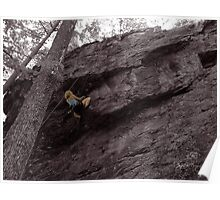 Climbing High - Rumney, NH Poster