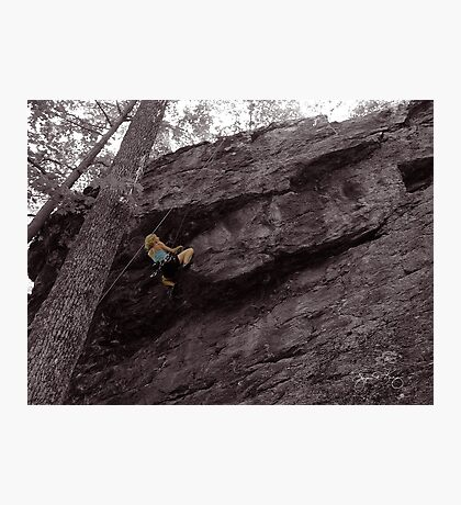 Climbing High - Rumney, NH Photographic Print