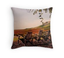 View from Cambria Winery, Santa Maria, CA Throw Pillow