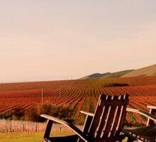 View from Cambria Winery, Santa Maria, CA Sticker