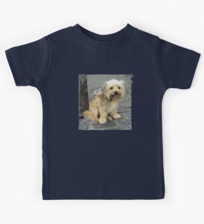 Louie the Shorkie-Tzu : Shih Tzu Yorkshire Terrier (Yorkie) Mix Kids Tee