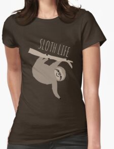 Sloth Life - Happy Lazy Sloth Womens Fitted T-Shirt