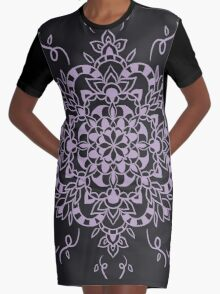 Rock in Pink Graphic T-Shirt Dress