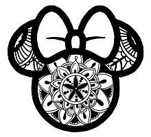 Minnie Mouse Mandala  Photographic Print