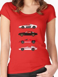The Car's The Star: Sports Cars Women's Fitted Scoop T-Shirt