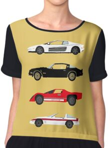 The Car's The Star: Sports Cars Chiffon Top