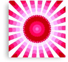 Shades of Red to Pink Star Canvas Print