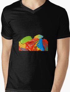 Brushstrokes vers. 2 Mens V-Neck T-Shirt