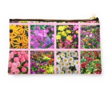 COLORFUL WILD FLOWER PHOTO COLLAGE Studio Pouch