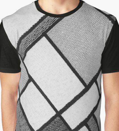 Square Cloth Texture 2BW Graphic T-Shirt