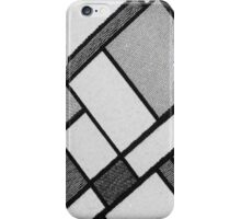 Square Cloth Texture 2BW iPhone Case/Skin