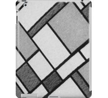 Square Cloth Texture 2BW iPad Case/Skin