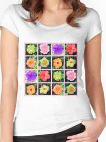 BREATHTAKING FLORAL PHOTO DESIGN Women's Fitted Scoop T-Shirt