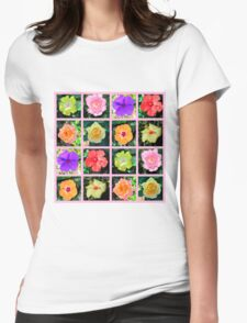 BREATHTAKING FLORAL PHOTO DESIGN Womens Fitted T-Shirt