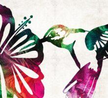 Hummingbird Art - Tropical Chorus - By Sharon Cummings Sticker