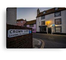 Crown Lane Canvas Print