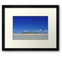 Island in the South Pacific Framed Print
