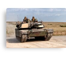 M1A1 Abrams Main Battle Tank Canvas Print