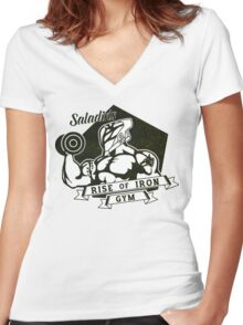 Saladin's Gym Women's Fitted V-Neck T-Shirt