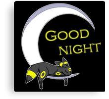Good Night, Moonlight Pokemon Canvas Print