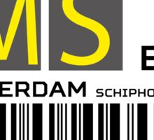 Destination Amsterdam Airport Sticker