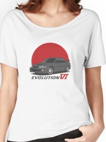 Mitsubishi Lancer Evolution VI (black) Women's Relaxed Fit T-Shirt