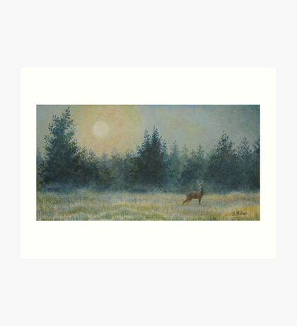 Forest of mists Art Print