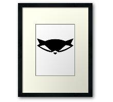 Sly Cooper logo Framed Print