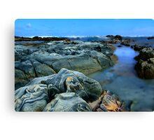Primary Blue Rocks Canvas Print
