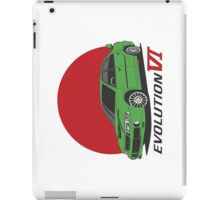 Mitsubishi Lancer Evolution VI (green) iPad Case/Skin
